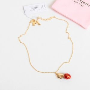 kate spade Jewelry - Kate Spade picnic perfect strawberry Necklace